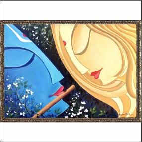 Beautiful Radha Krishna art Digital Painting   23 Inch X 18 Inch