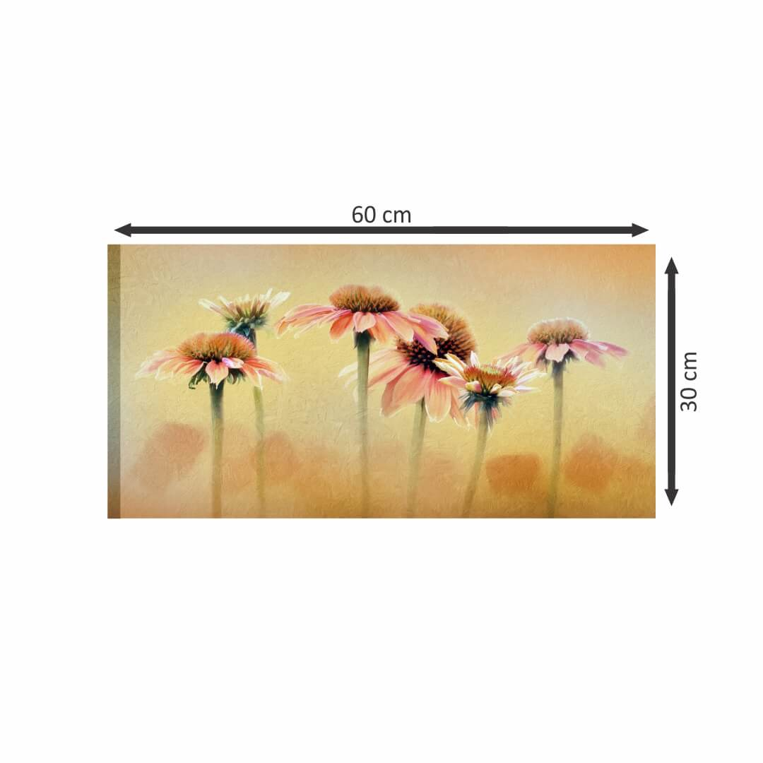 Beautiful Flower  painting Modern Canvas wallart 2 Painting   60Cm X 30Cm
