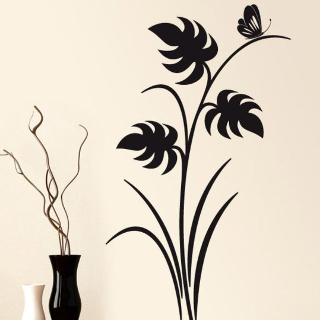 Décorazioni  floreali  giapponesi  disegni  wall Decor wall  Sticker 90Cm X 32Cm