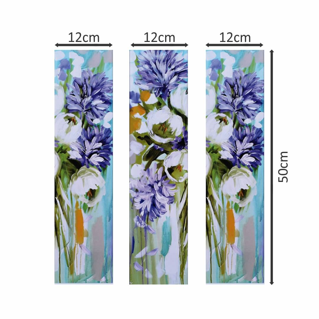Lily of the Nile Flower Craft Painting Multi Piece Canvas Abstract WallPainting 12CmX50Cm each set