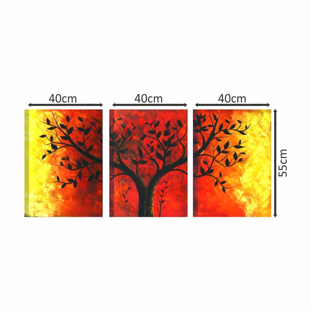 Canvas Tree Modern Art painting Multi Piece Canvas Abstract WallPainting 40CmX55Cm