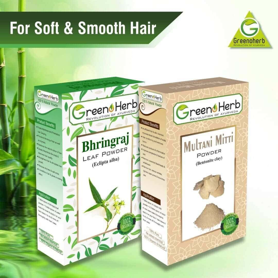 Bhringraj Multani Pack For Soft & Smooth Hair