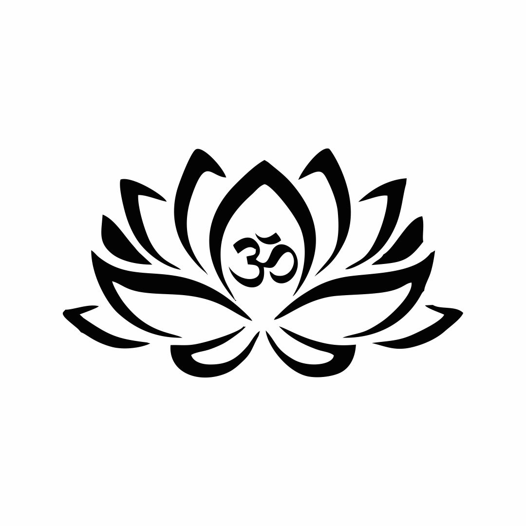 Buddhist lotus flower  wall Decor wall  Sticker 35Cm X 20Cm