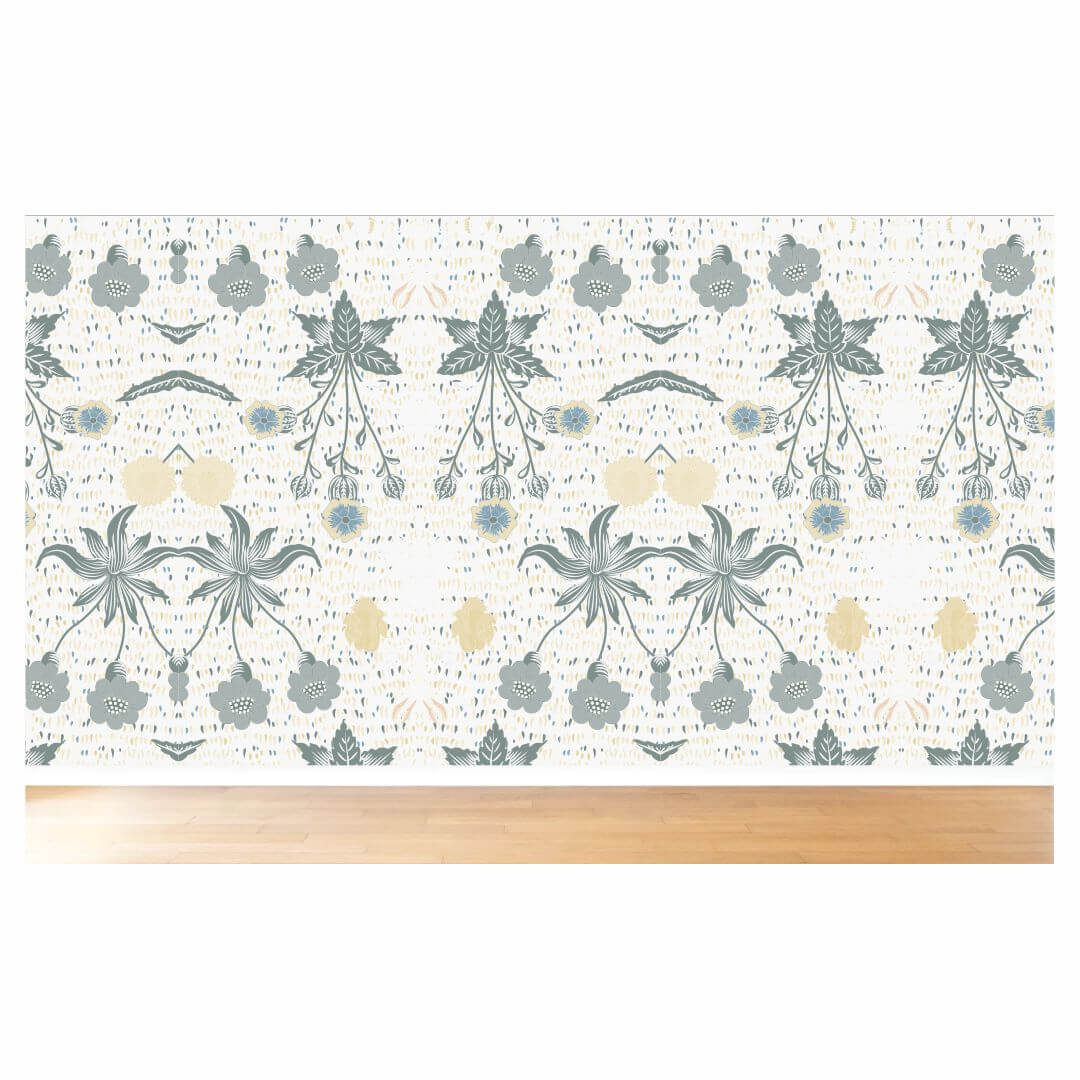 Floral leaf with base abstract Wallpaper