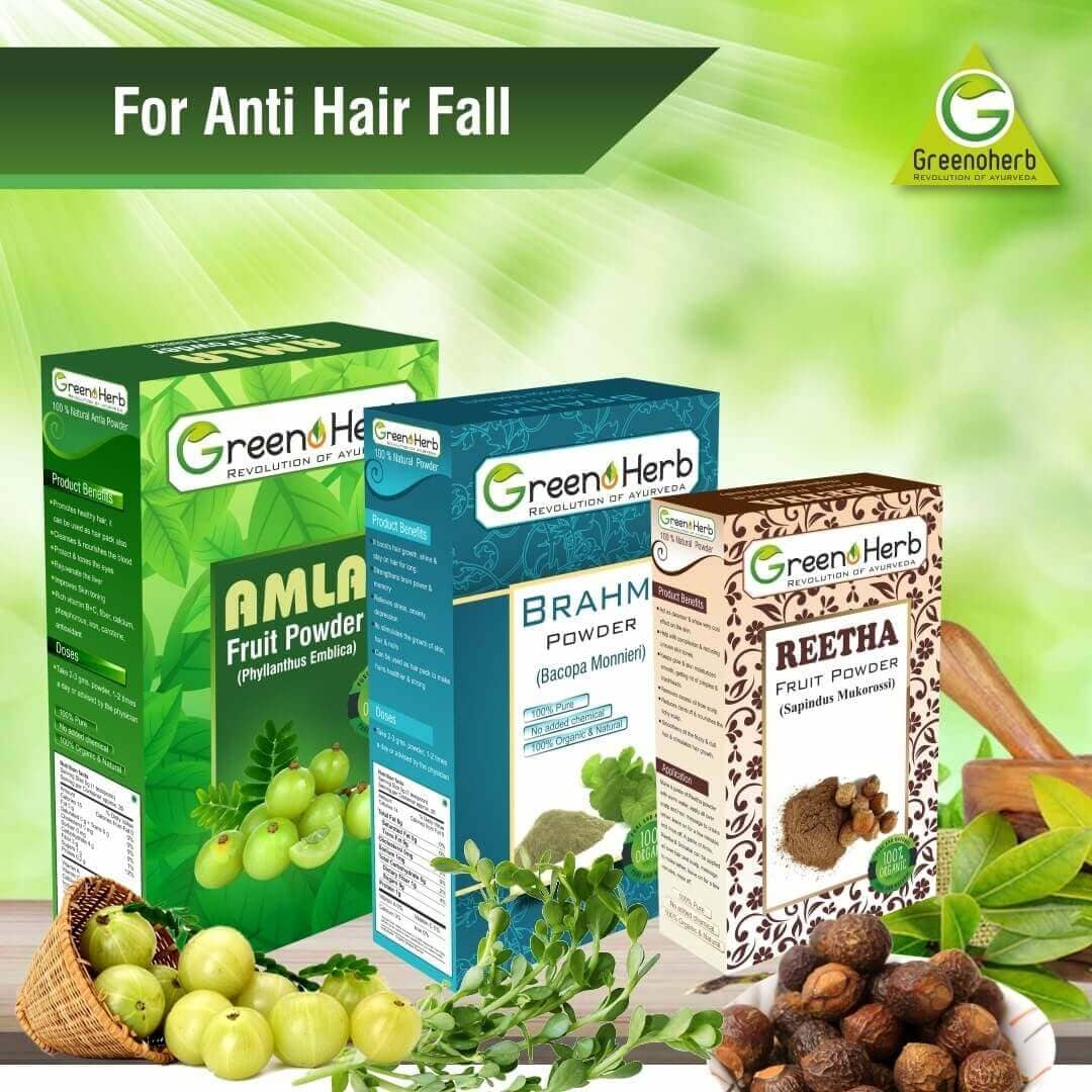 Amla Brahmi Reetha Anti Hair Fall pack