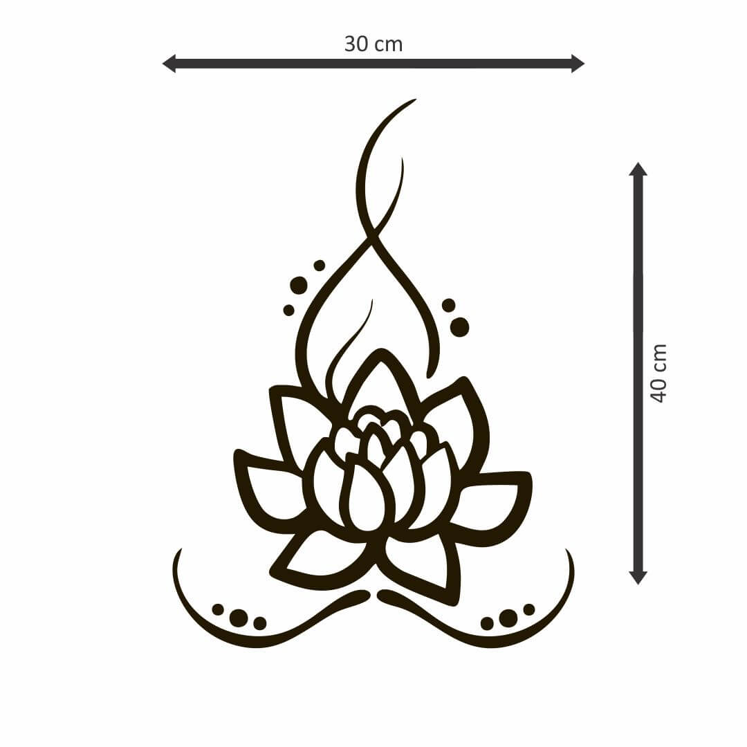 Mandala Flower  wall  Sticker   30Cm X 40Cm