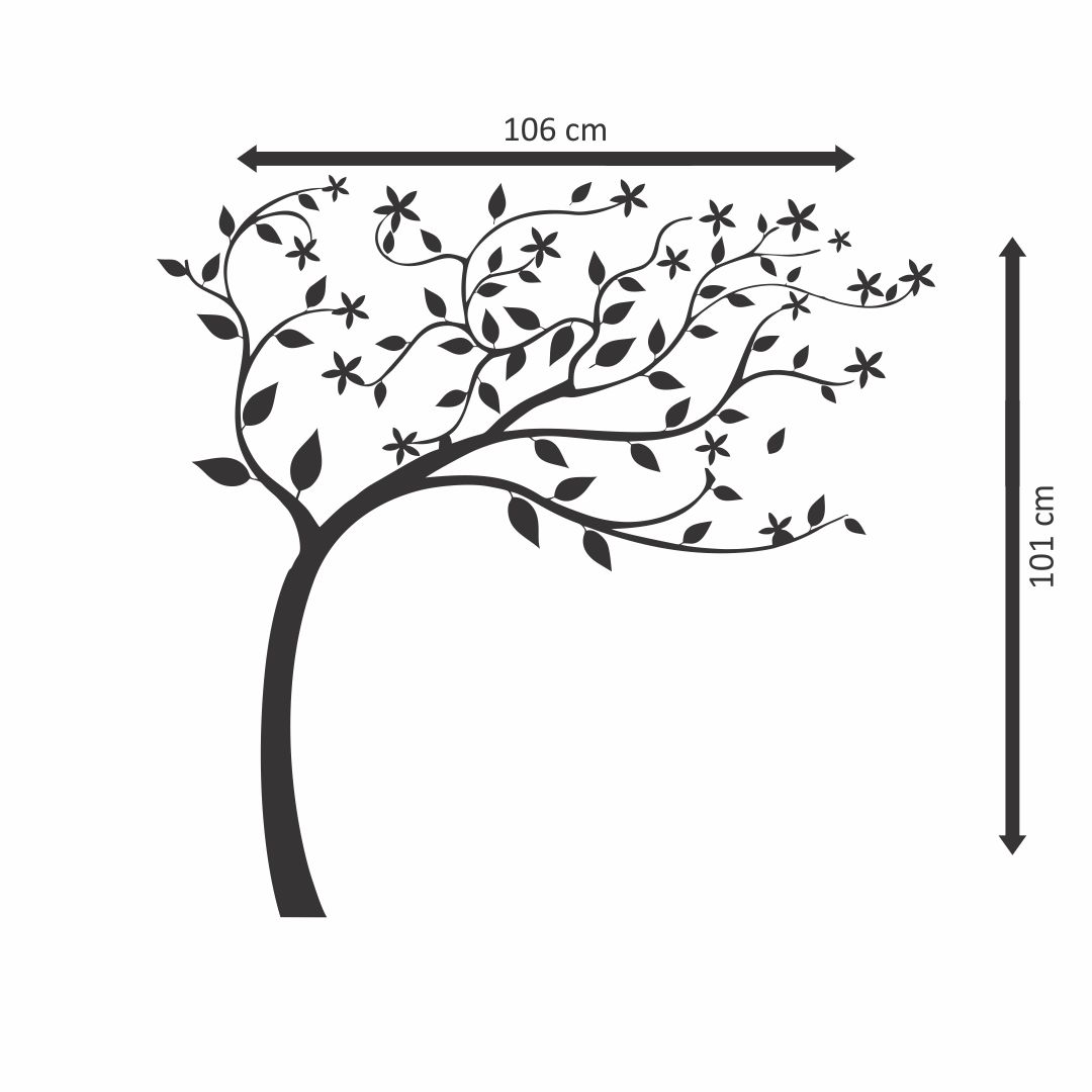 Beautiful Large tree flow    wall Decor wall  Sticker 106Cm X 101Cm