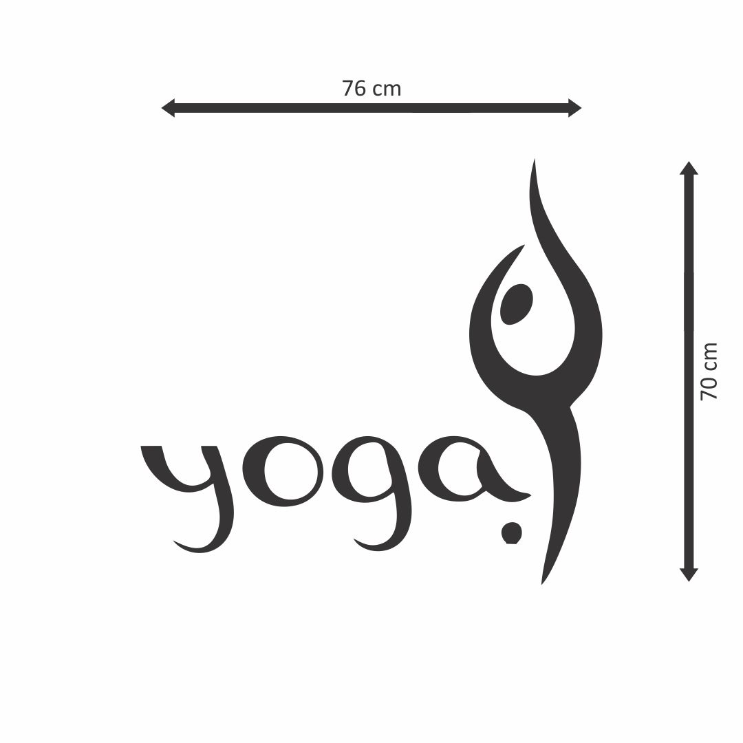 yoga symbol     wall Decor wall  Sticker 76Cm X 70Cm