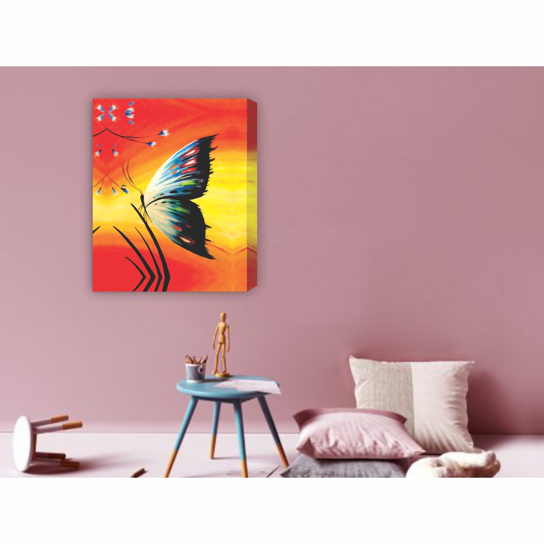Butterfly Canvas Painting,18 Inch X 23 Inch
