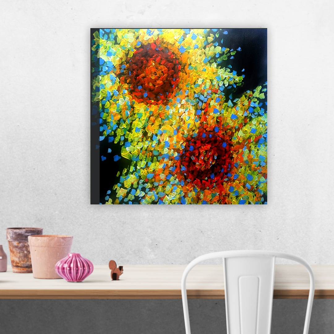 Size Colourful Visual arts Discipline abstract Modern Canvas wall art Painting 30CmX30Cm