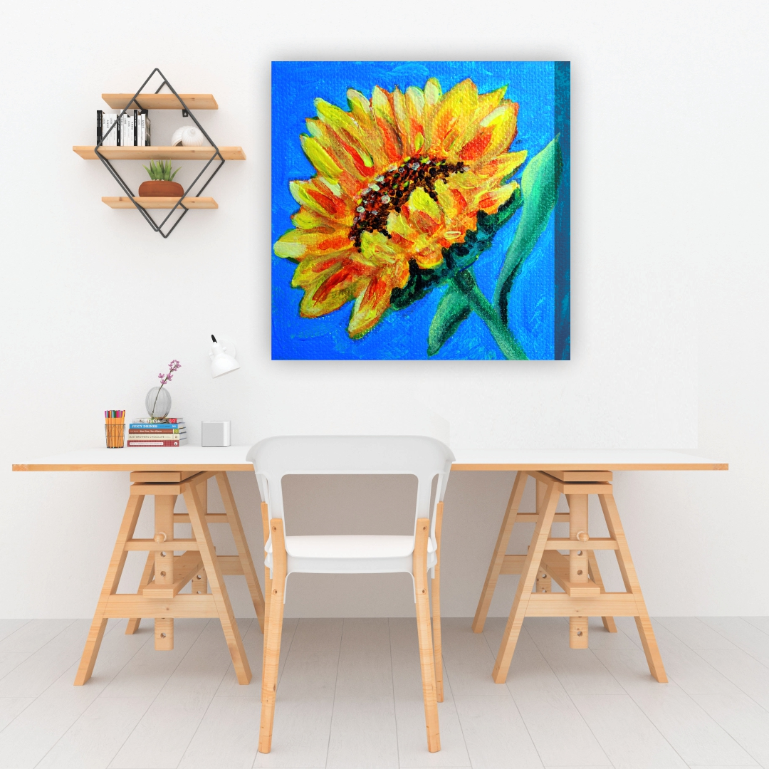 Colourful Sunflower  Plants Canvas Art  abstract   Modern Canvas wall art Painting   45Cm X 45Cm