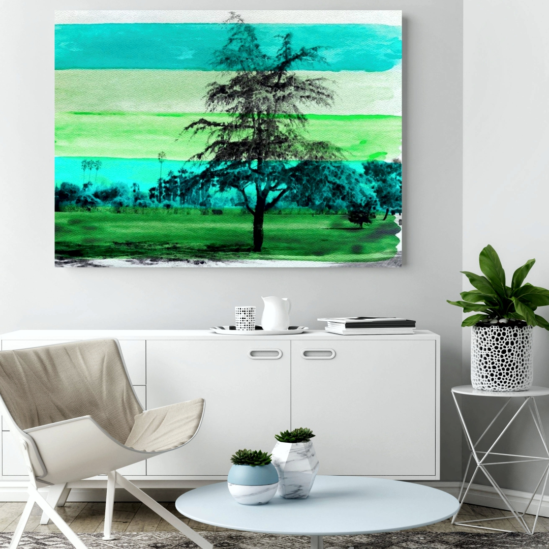 American slash pine wall art    Art abstract   Modern Canvas wall art Painting  50Cm X 35Cm