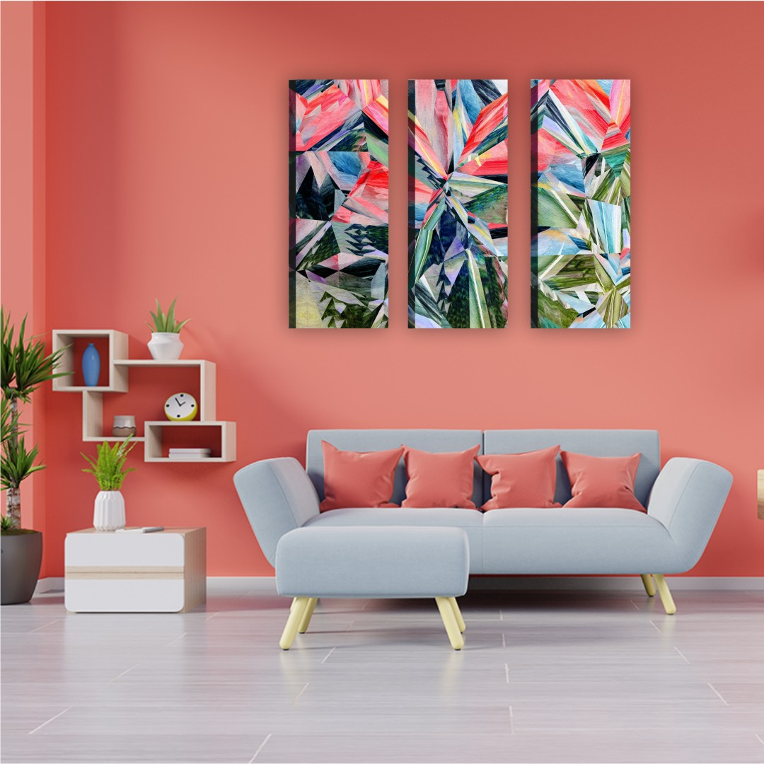 Dark let it out and bright wall Canvas Abstract WallPainting 20CmX50Cm each set