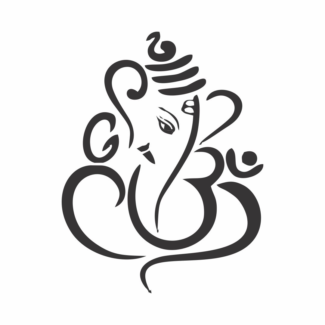 Lord Ganesha Wall Sticker for Bedroom Letters ideal size on wall 175cmX120 cm Multicolor