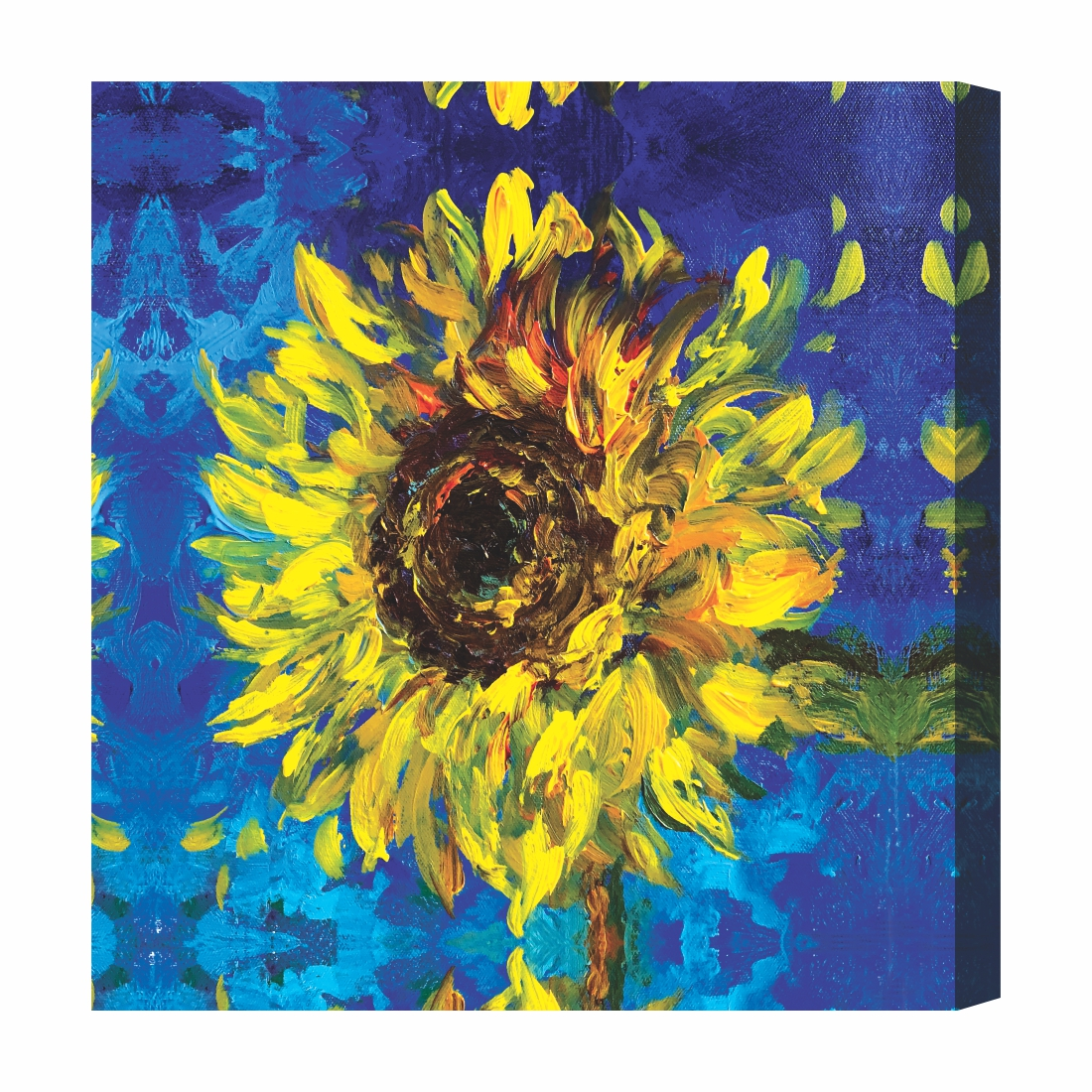 Sunflower yellow Canvas Painting,  24 Inch X 24 Inch