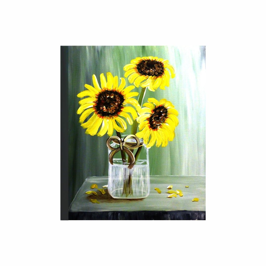 Common Sunflowers Plants Canvas Art abstract   Modern Canvas wall art Painting   38Cm X 45Cm
