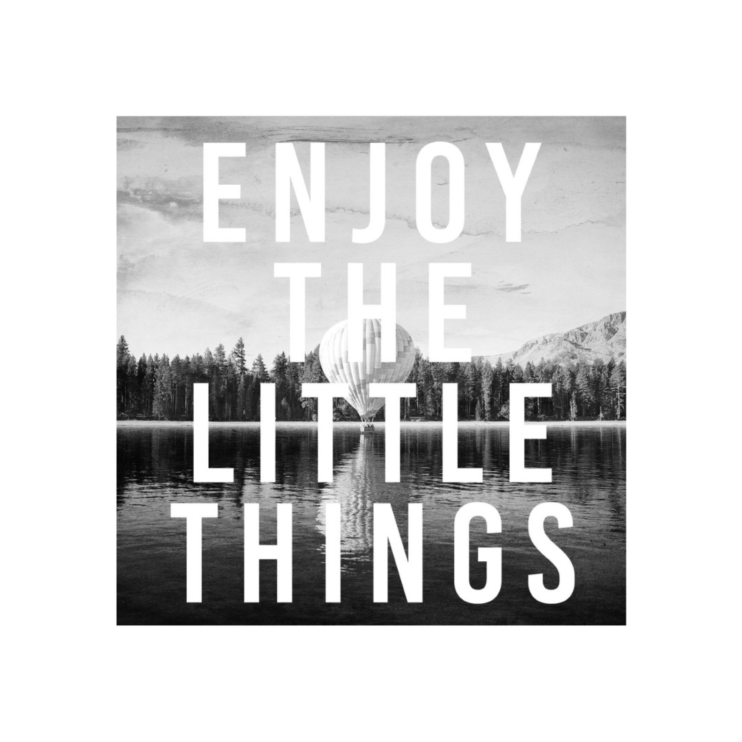 Enjoy the little things quotes wall Canvas Abstract WallPainting 45CmX45Cm