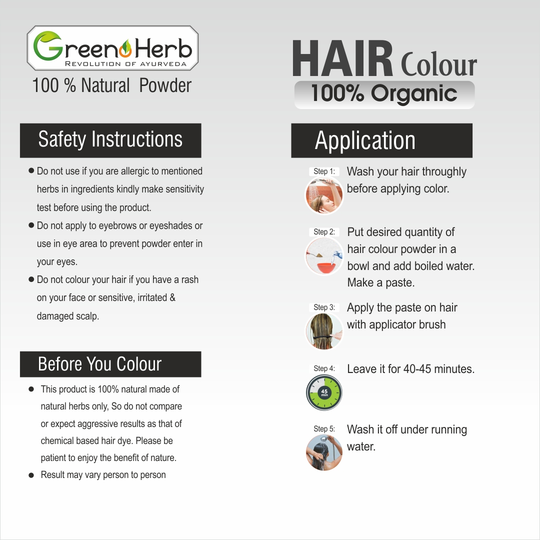 Organic Hair Color Soft Black