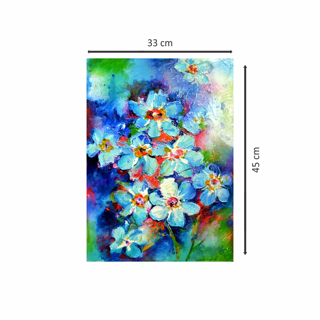 Colourful Larkspur Plants abstract   Modern Canvas wall art Painting   33Cm X 45Cm