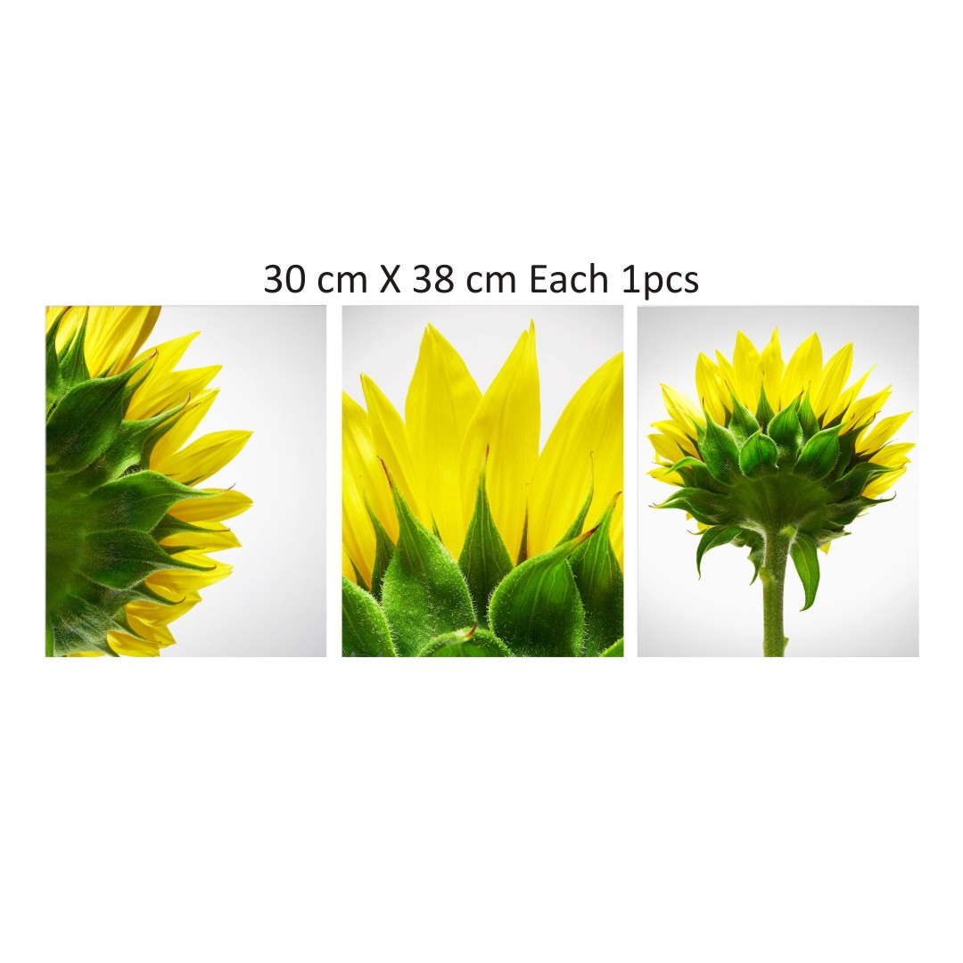 Yellow Sunflower Canvas Abstract Wall Painting 30CmX38Cm