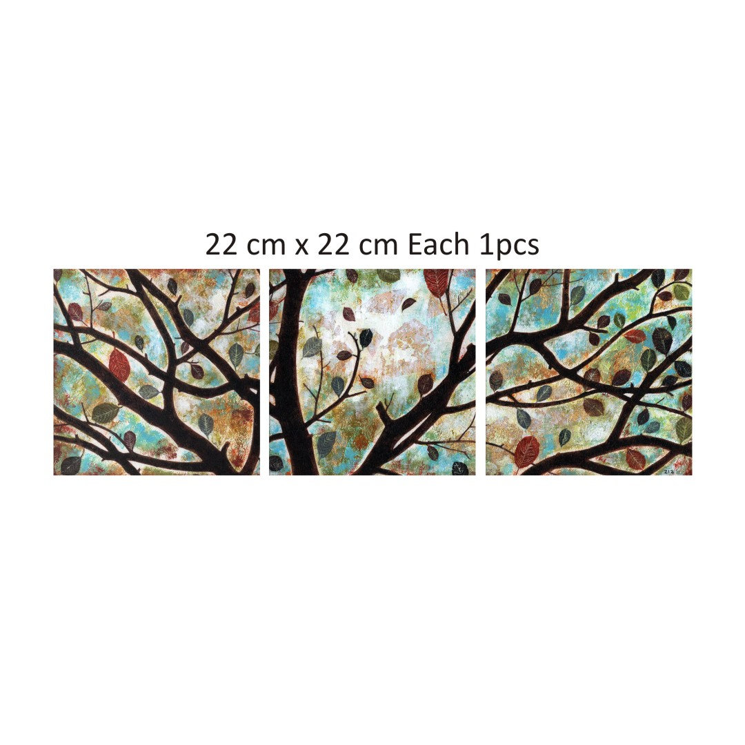 Colourful Painting ideas forKitchen Canvas Abstract WallPainting 22CmX22Cm each set