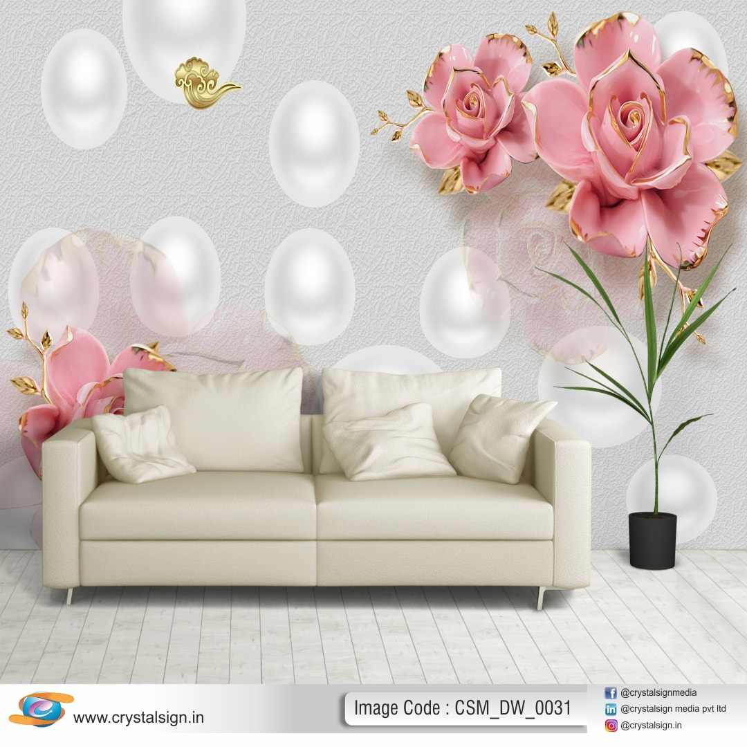 3D Abstract Flowers Wall Decorate Wallpaper CSM DW 0031