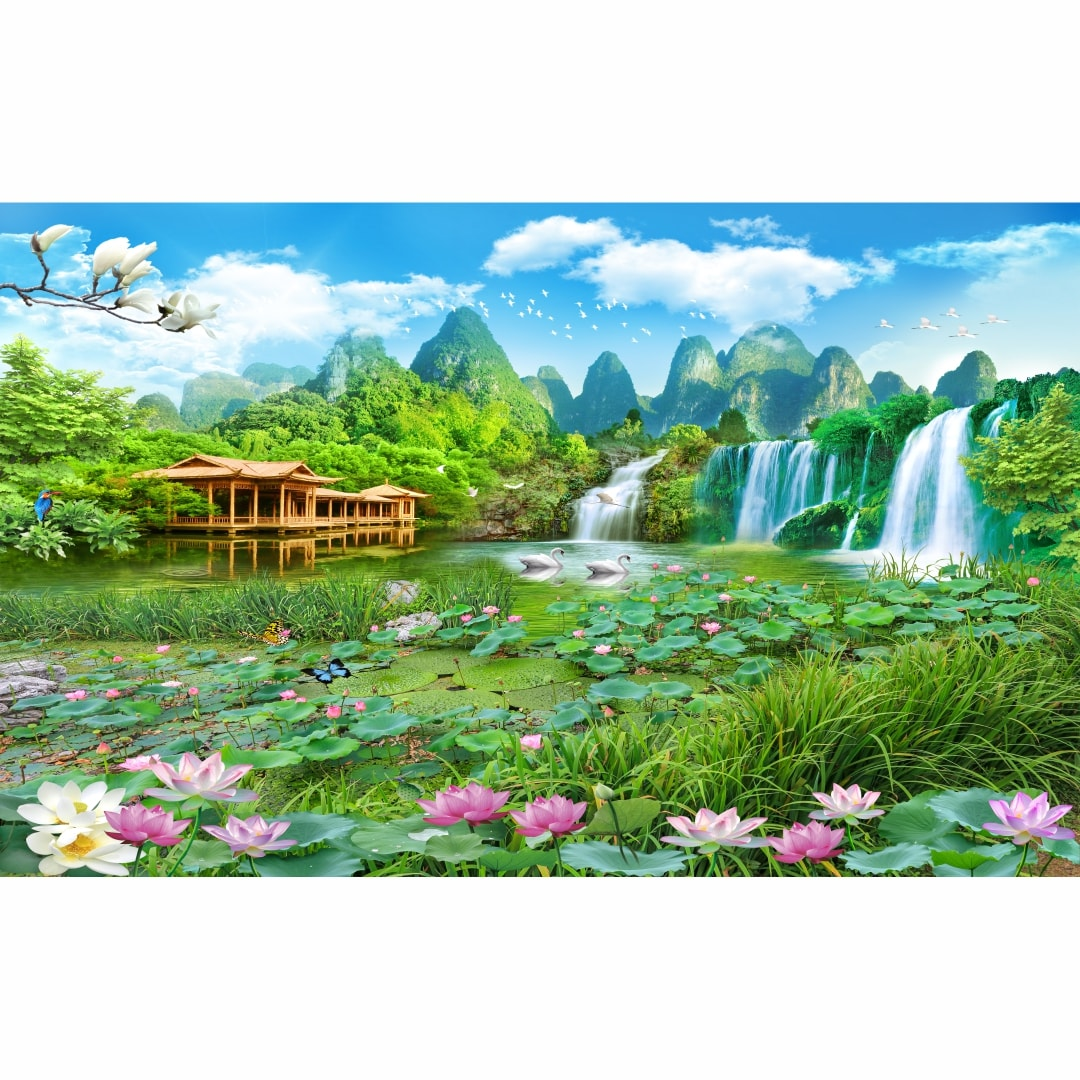 Beautiful 3D Scenery Colourful Abstract HD Wallpaper CSM DW 0056