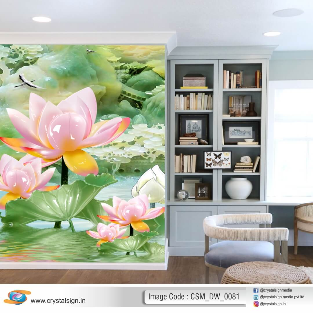 3D HD Flower wall art Living Room Wallpaper CSM DW 0081
