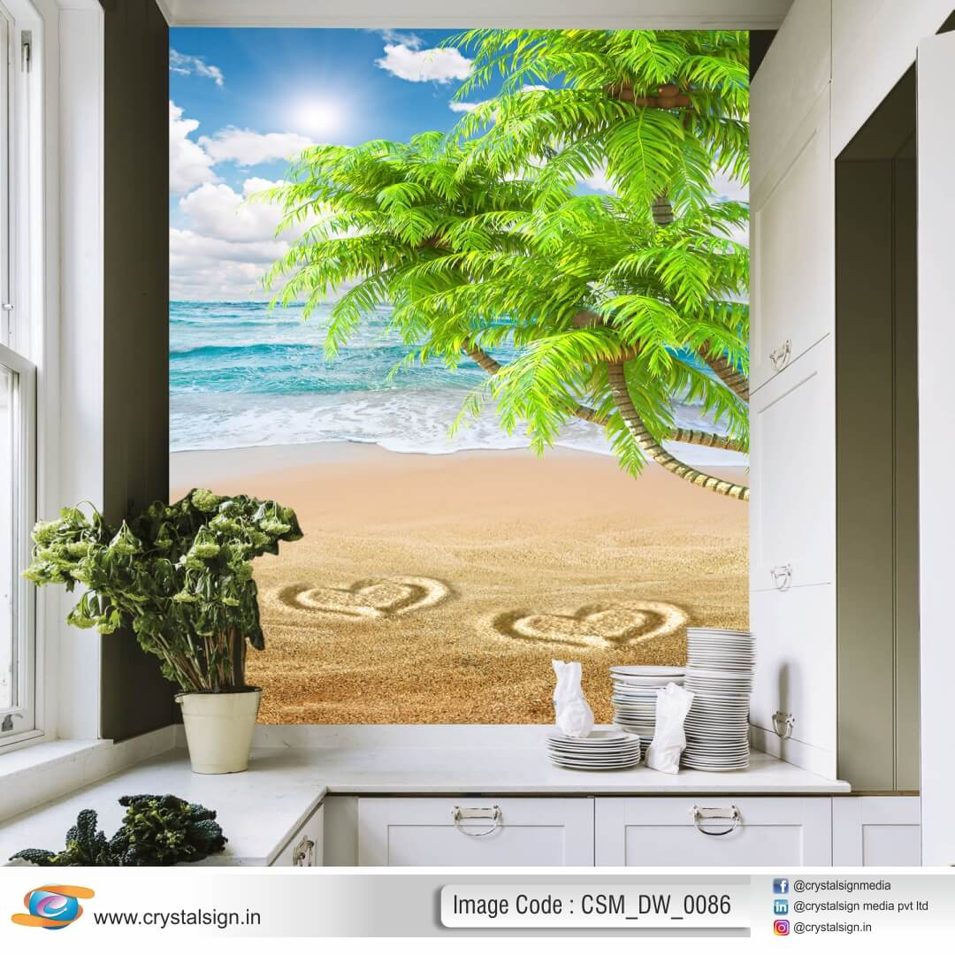 Beautiful Sky Sea wall art Living Room Wallpaper CSM DW 0086