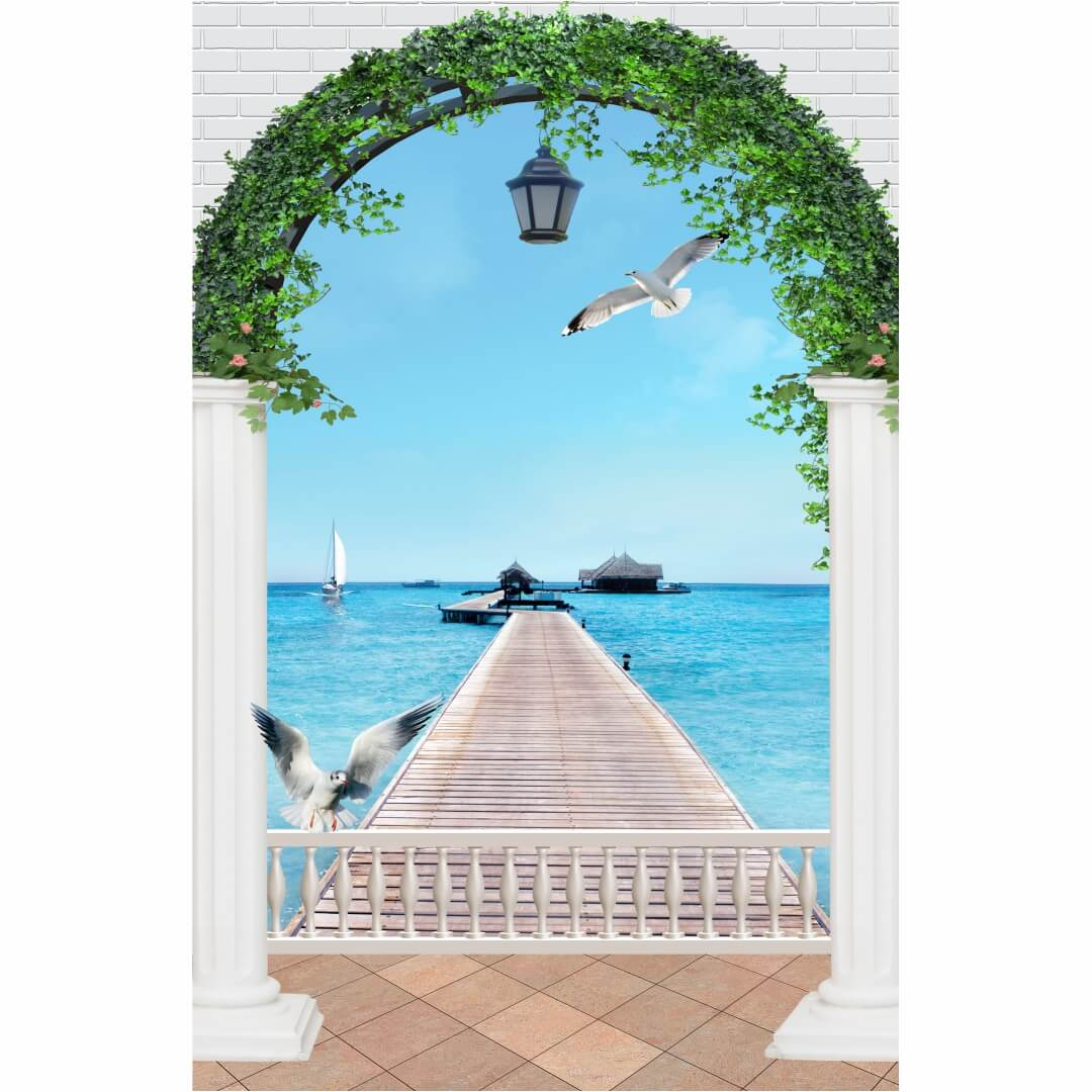 Beautiful 3D HD Sea wall art Living Room Wallpaper CSM DW 0089