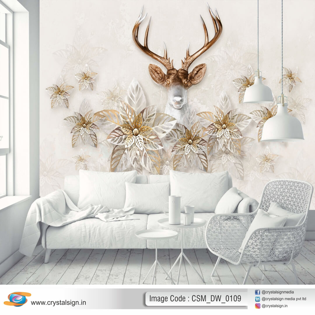 Beautiful 3D HD wall art Flowers Living Room Wallpaper CSM DW 00109