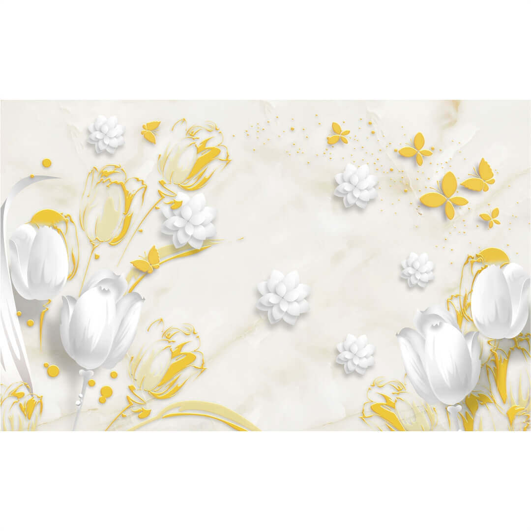 3D HD Flowers wall art Living Room Wallpaper CSM DW 00117
