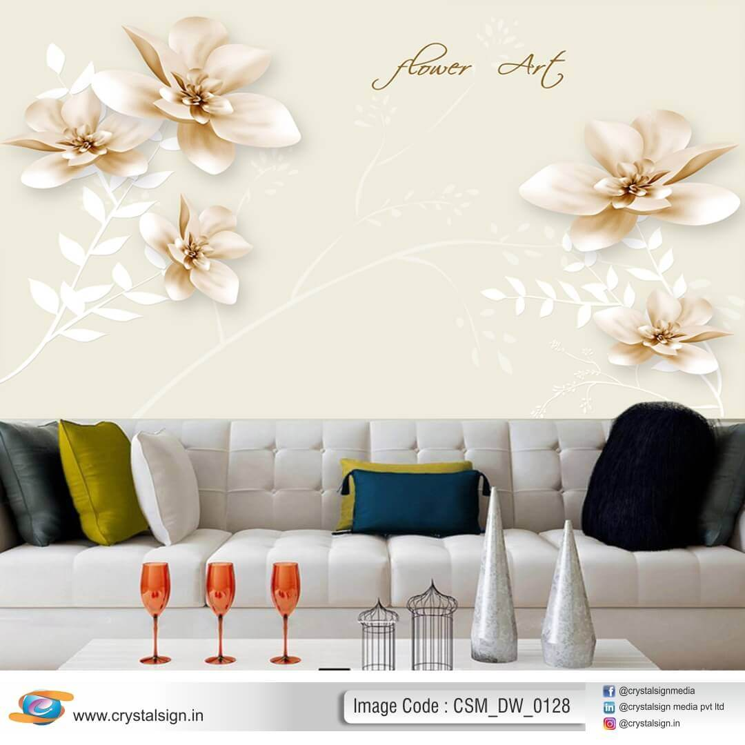 3D HD Flowers Beautiful wall art Living Room Wallpaper CSM DW 00128