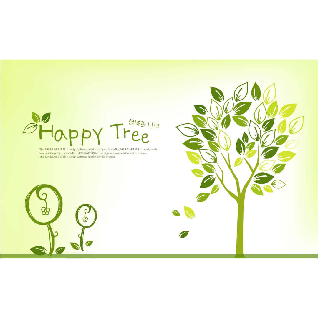 3D HD Beautiful Quotes Happy Tree wall art Living  Room Wallpaper CSM DW 00129