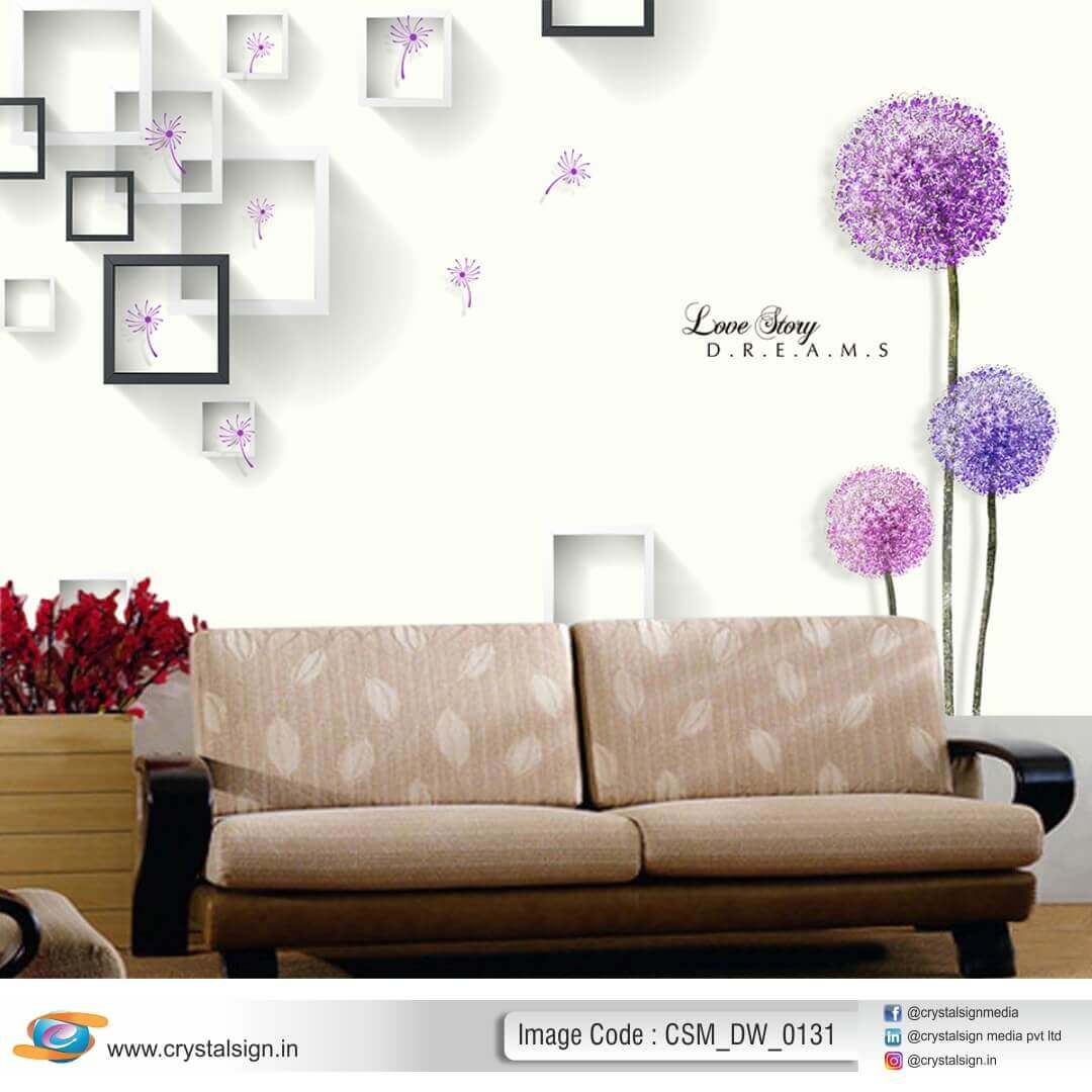 3D HD Beautiful Flowers wall art Living  Room Wallpaper CSM DW 00131