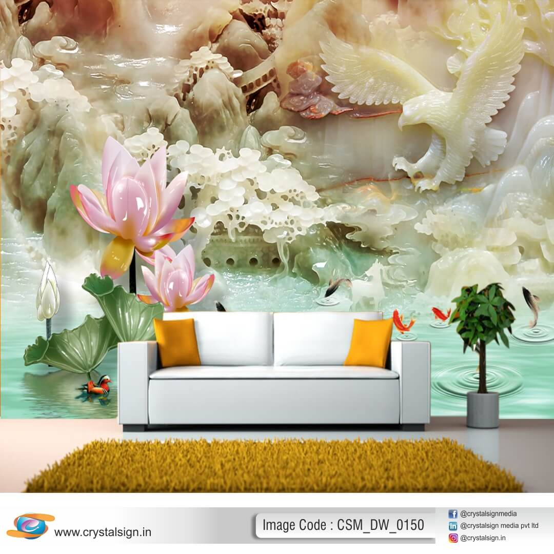 3D HD Beautiful Scenry wall art Floral Wallpaper CSM DW 00150