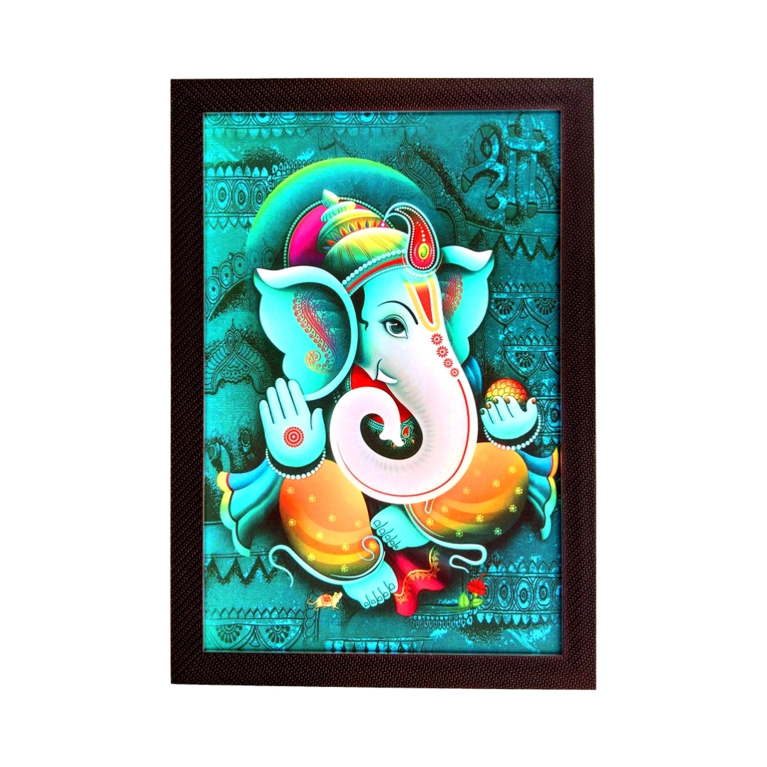 Abstract Ganesha  2 Colourful     Wall Painting 15 Inch X 22 Inch