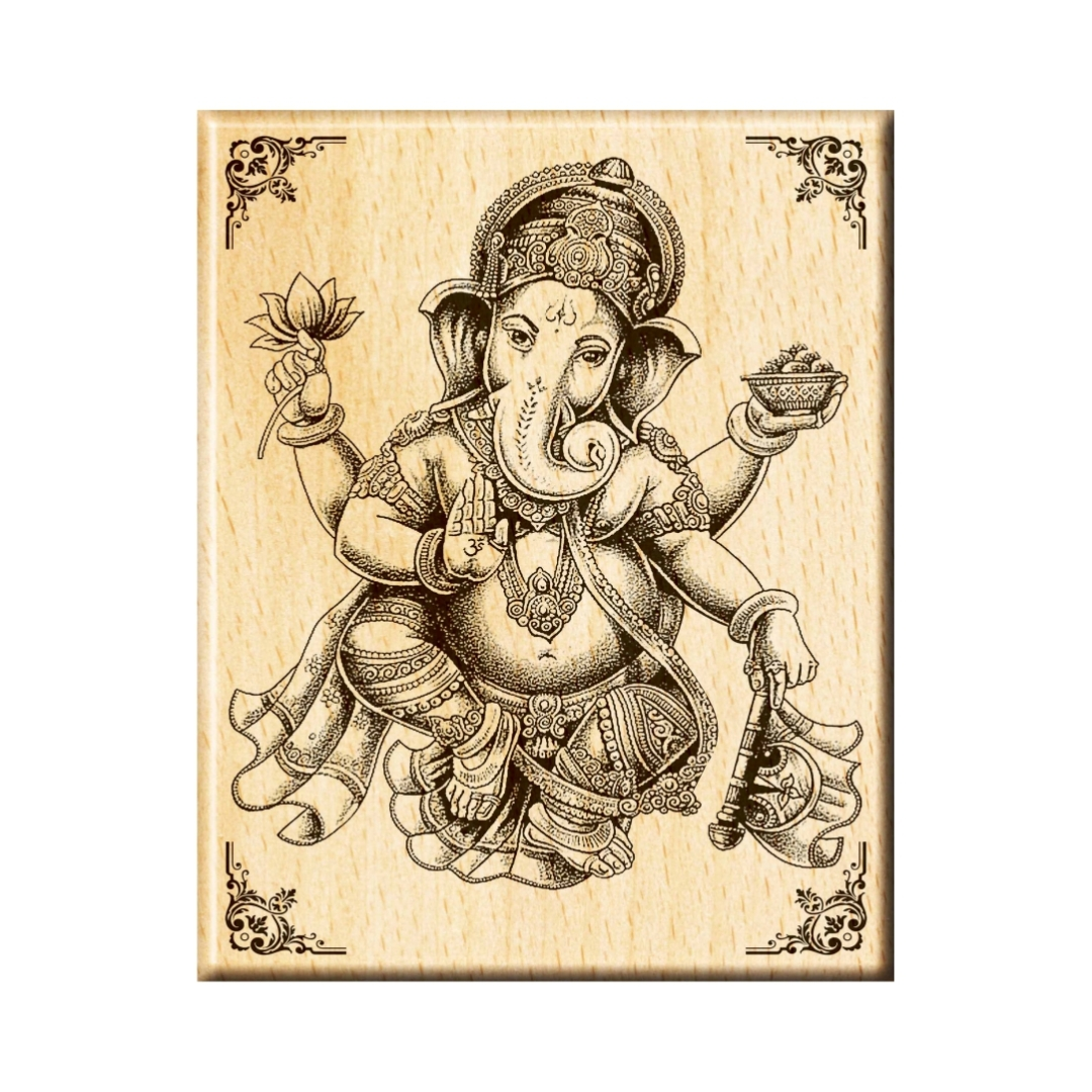 Ganesha  Colourfull  Wall Painting  18 Inch X 24 Inch