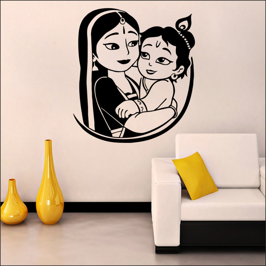Bal Krishna wall Sticker 20InchX20Inch