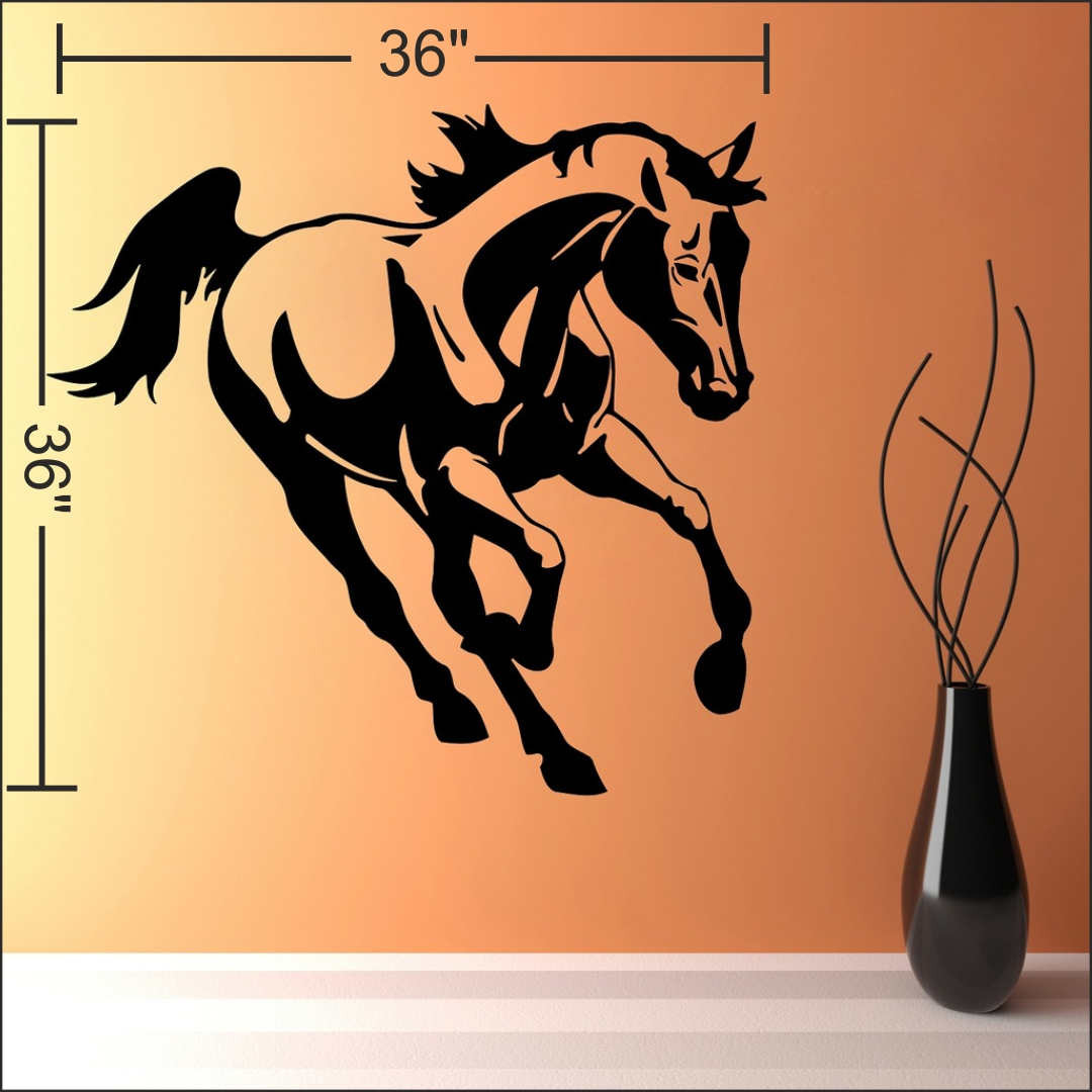 Runing Horse wall Sticker 36InchX36Inch
