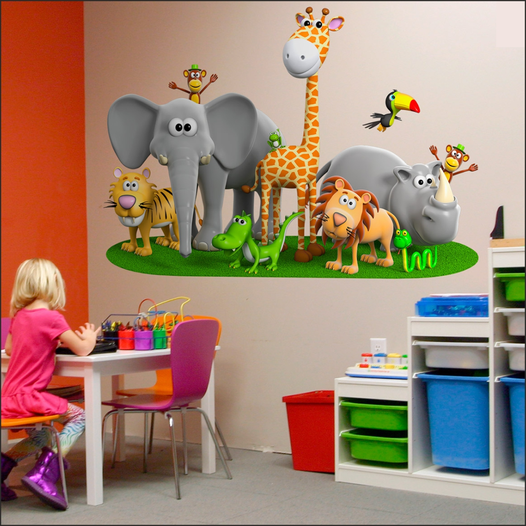 Jungle Safari wall Sticker 36InchX24Inch