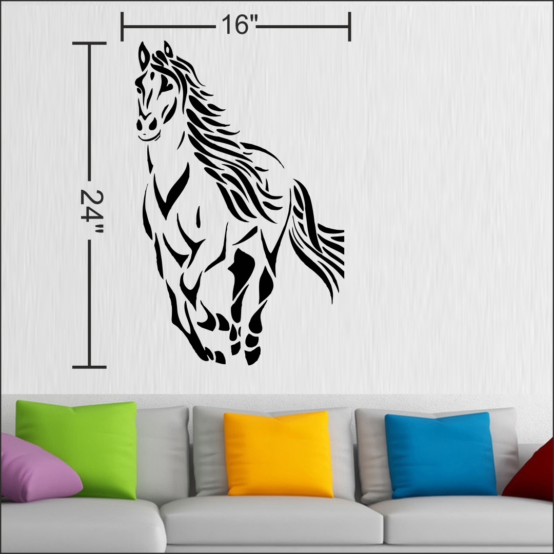 Horse running wall Sticker 16InchX24Inch