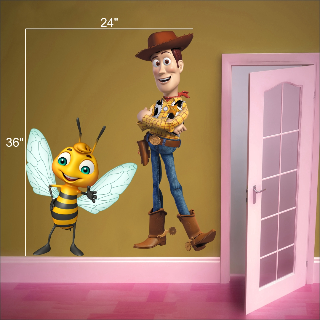 Bee with Woody wall Sticker   24InchX36Inch