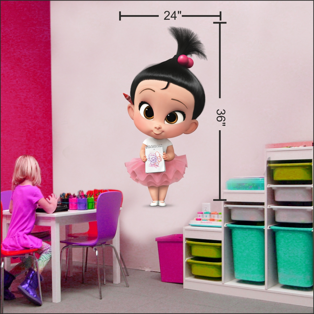 Naughty Girl wall Sticker 24InchX36Inch