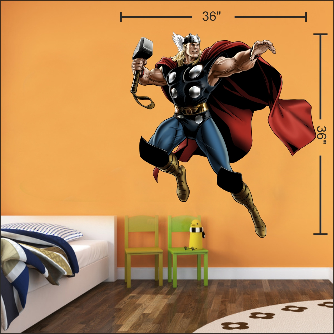 Thor wall Sticker 36InchX36Inch