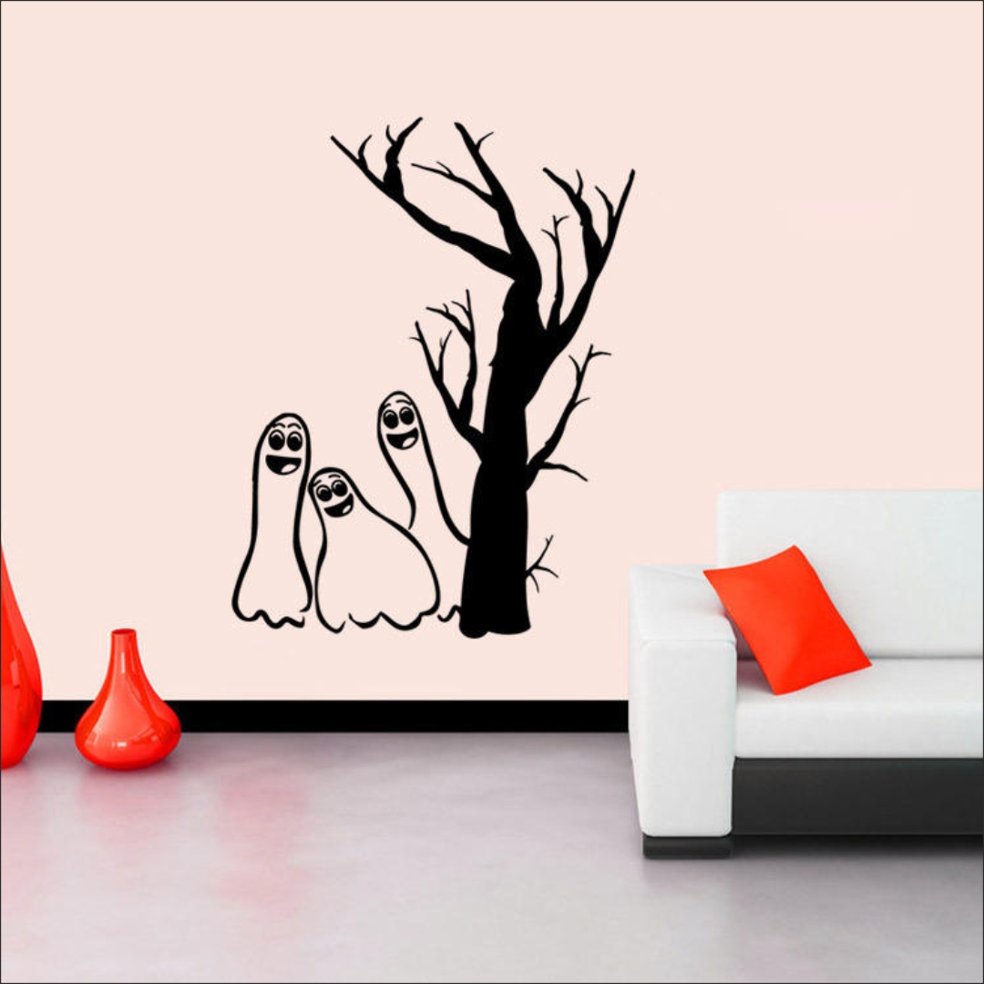 Small cute Horror wall Sticker 30InchX48Inch