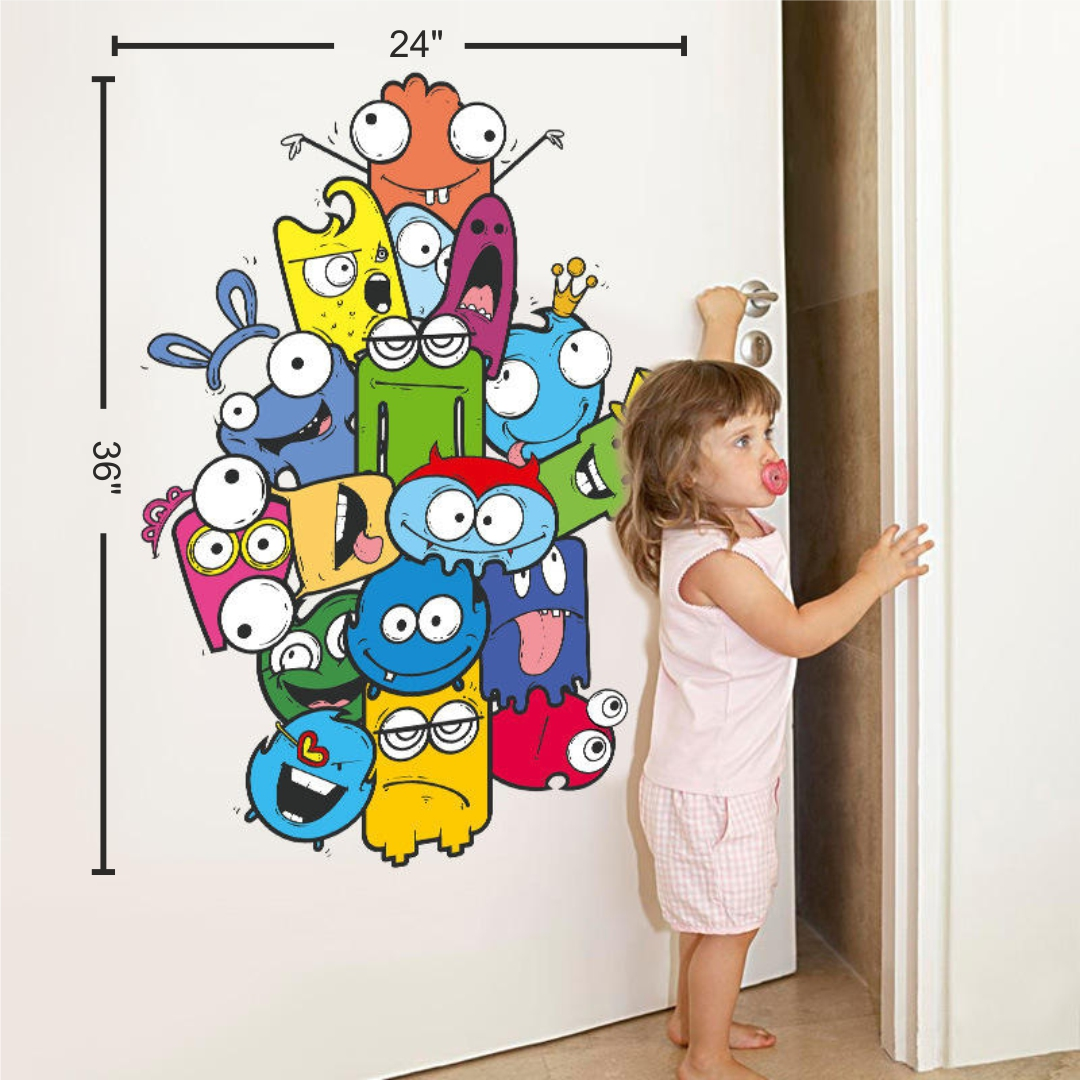 Cartoon family wall Sticker 24InchX36Inch