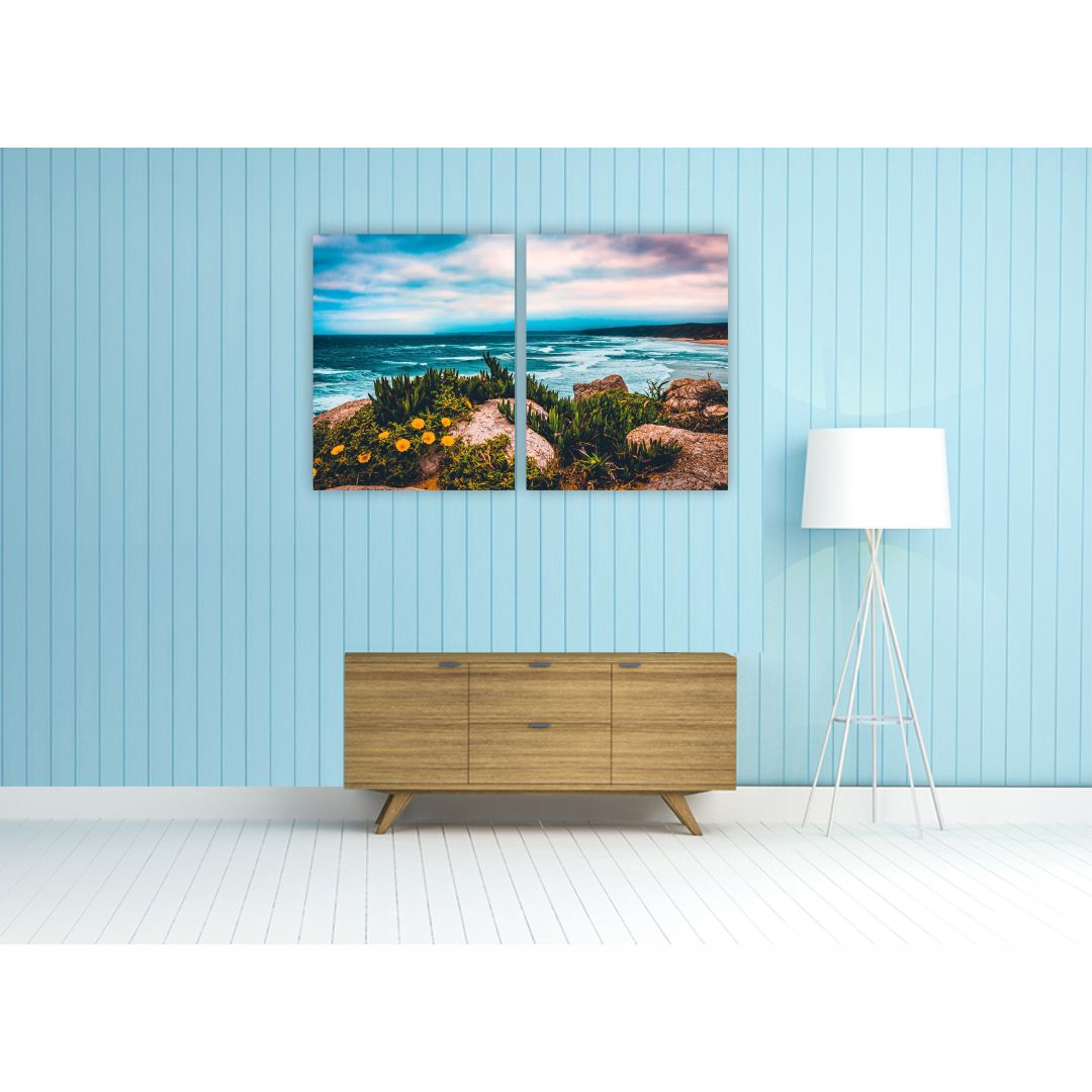 The green lagoon in Copiapo Chile!Digital  Wall Painting 18 InchX20 Inch Each Panel