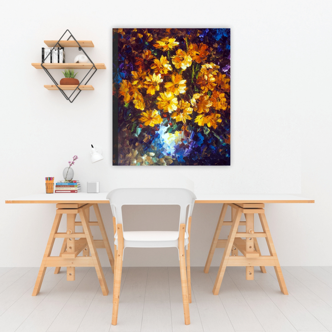 Beautiful  yellow flower painting  Modern Canvas wallart Painting   30Cm X 40Cm
