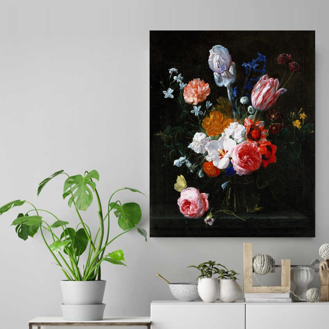 Colourful  flower abstract    Modern Canvas wallart Painting   40Cm X 50Cm